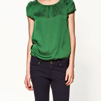 FLOUNCE SLEEVE BLOUSE - Collection - Shirts - Collection - Woman - ZARA United States