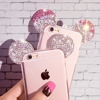 Case Lovely Cute Mickey Mouse Ear Cover for iPhone 7 6s Plus 5 5s