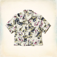 Tropical Cropped Shirt