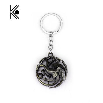 Game of thrones Key Chain A Song of Ice and Fire Key Rings Gift For Fans With High Quality TV Jewelry Free Shipping