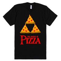 Legend Of Pizza-Unisex Black T-Shirt