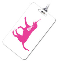 Lacrosse Bag/Luggage Tag Lexi The LAX Dog | Lacrosse Bag Tags | Lacrosse Travel Accessories