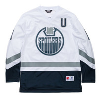 UNDEFEATED SPOILERS LS HOCKEY JERSEY - WHITE | Undefeated