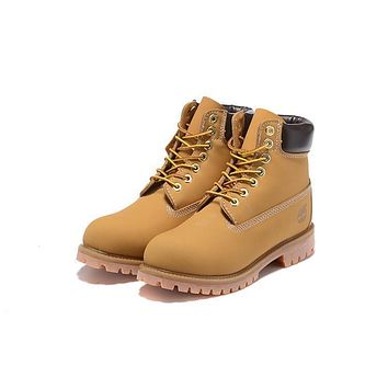 Timberland 10061 Anti Fatigue Outdoors Classic High Boot Shoes Yellow