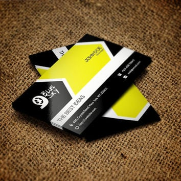 Business card template | Corporate business card | PSD Template | Instant download