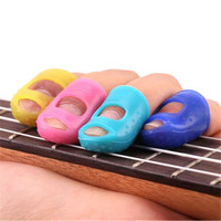 Activing 4PCS Guitar Fingertip Protectors Finger Guards For Ukulele Guitar Accessories ST29