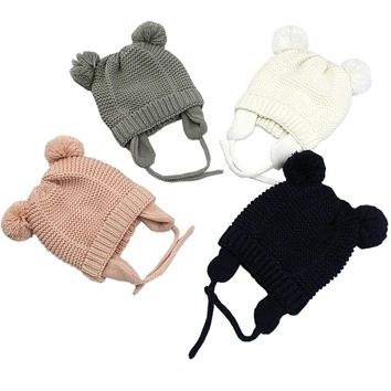 3 Sizes Baby Hats  1-5 Years Boys Girls Hats Kids Winter Hats Bonnet Enfant Hat For Children Baby Muts KF744