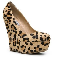 SM Women's Pammyy Leopard Wedge Pump