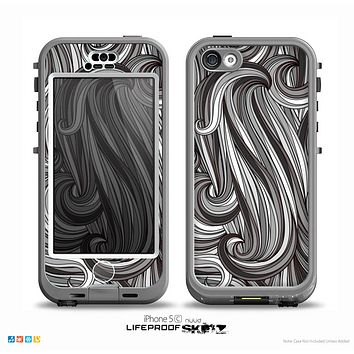 The Black & Gray Monochrome Pattern Skin for the iPhone 5c nüüd LifeProof Case