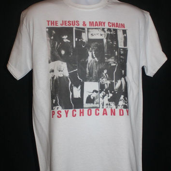brand new *the jesus and mary chain psycho candy t-shirt 80s indie vintage primal scream*  Available in Small, Medium, Large or XL.