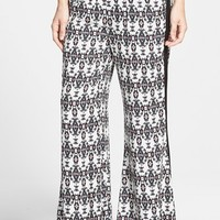 Women's Search for Sanity Print Flare Pants,
