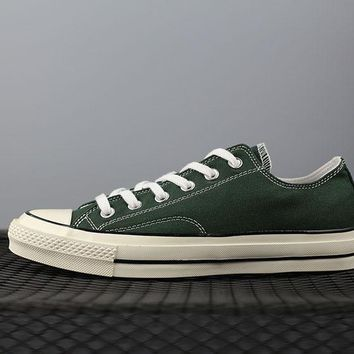PEAPON Converse 1970s Fashion Canvas Flats Sneakers Green