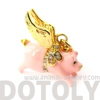 Flying Pig Animal Pendant Necklace | Limited Edition Animal Jewelry