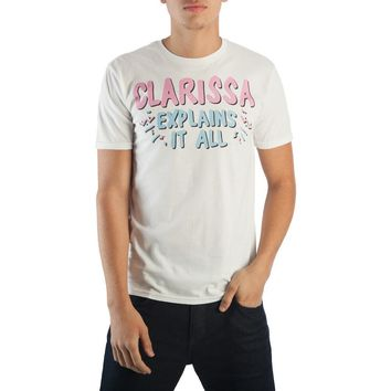 Clarissa Explains It All Men's White T-Shirt Tee Shirt - Clarissa Darling