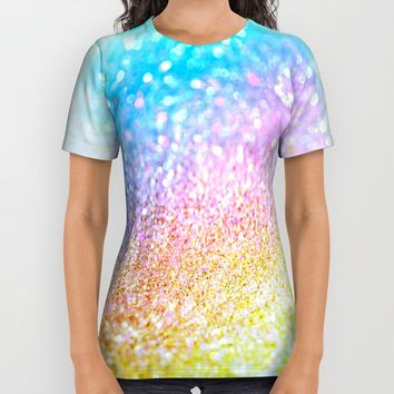 rainbow glitter All Over Print Shirt by Haroulita