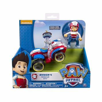 Genuine Paw Patrol - Ryder's Rescue ATV, Vehicle and Figure figure toy Puppy Dog Patrol Car patrulla Patrulla Kids Toys Dog