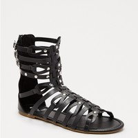 Black Gladiatrix Sandal