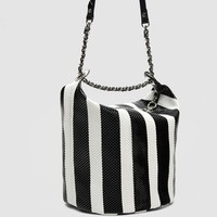 STRIPED BUCKET BAGDETAILS