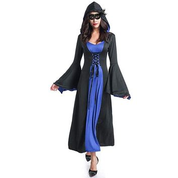 Custom Adult Palace Gothic Vintage Dress Halloween Witch sexy slim Costumes for Women cosplay clothing Macchar Cosplay Catalogue