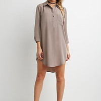 Sheeny Shirt Dress
