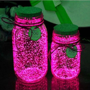 10g Luminous Party DIY Bright Glow in the Dark Paint Star Wishing Bottle Radiationless Fluorescent Powder Nail Glitter Romance