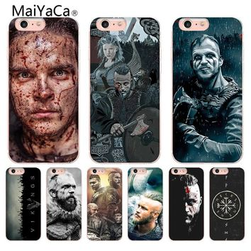 MaiYaCa vikings serie 4 Transparent Coque Shell Phone Case for Apple iPhone 8 7 6 6S Plus X 5 5S SE 5C Cellphones