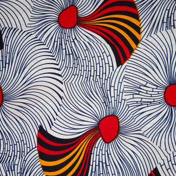 White African print Fabric for African dress skirt clothing, English gold pattern, African fabric by the yard, Wax print, Ankara fabric