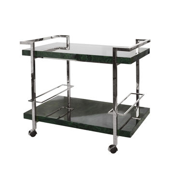 Maddox Mal Bar Cart | Nickel