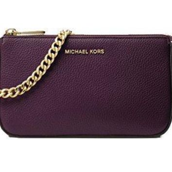 Michael Michael Kors Jet Set Leather Chain Wallet