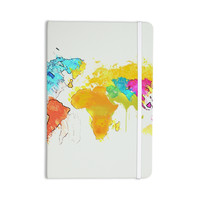 "Oriana Cordero ""World Map"" Rainbow White Everything Notebook"