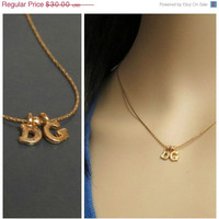 SALE 20% Gold two initial necklace mom, two initial charm necklace, personalized gifts for mom