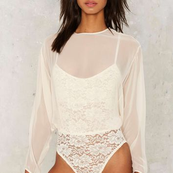 Hot as Hell Mama Jen Chiffon Bodysuit