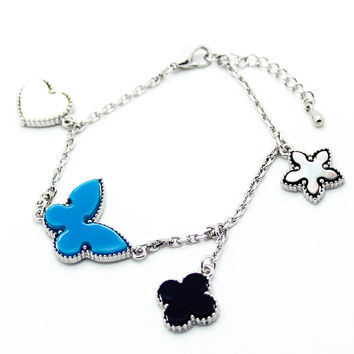 Butterly charm bracelet (3 colors)