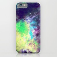 Green Galaxy iPhone & iPod Case by SagaciousDesign