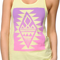 Glamour Kills Crystal Skullz Yellow Racerback Tank Top
