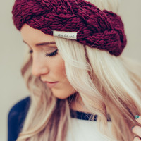 Braided Bouclé Yarn Ear Warmer