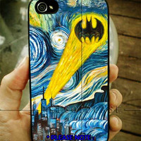 Batman Logo Stary Night iPhone Case 4 / 4S / 5 Case Samsung Galaxy S3 / S4 Case
