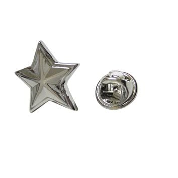 Silver Toned Star Lapel Pin