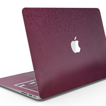 50 Shades of Burgandy Micro Hearts - MacBook Air Skin Kit