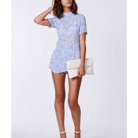 Missguided - Dareka Floral High Neck Skort Playsuit