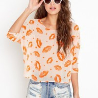 Sealed With A Kiss Blouse - NASTY GAL