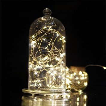 Battery Operated Starry String Lights 10.5 ft 30LED Fairy Decorative Copper Wire Rope lights for Valentine's day Christmas Decor