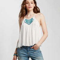 Embroidered Geo Swing Tank