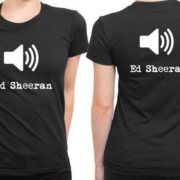 CREYP7V Ed Sheeran Sound 2 Sided Womens T Shirt
