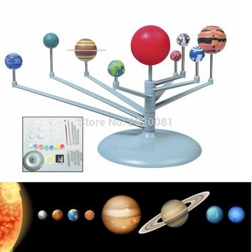 HOT solar system nine planets planetarium DIY toys science model kit educational&learning Astronomy Project toy for children