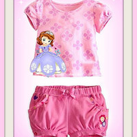 Sofia the First Girls 2pc Summer Set
