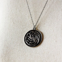 House Targaryen of King's Landing Crest Pendant Necklace - Game of Thrones Cosplay - Game of Thrones Jewelry - Fire and Blood - GoT pendant