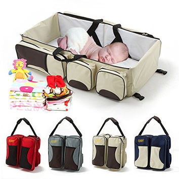 Portable Baby Infant Newborn Travel Bed Crib Bassinet Changing Station Diaper Bag