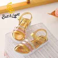 Summer 2016 children's flat heels beach shoes 3 colors non-slip casual shoes princess fashion sandals for kids