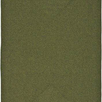 Braided Transitional Indoor Area Rug Green
